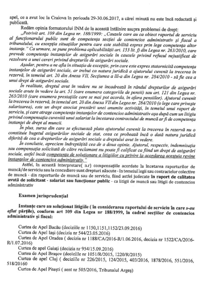 indemnizații și ajutoare la trecerea in rezervă