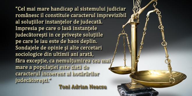 PRACTICA NEUNITARA, O VULNERABILITATE A JUSTITIEI