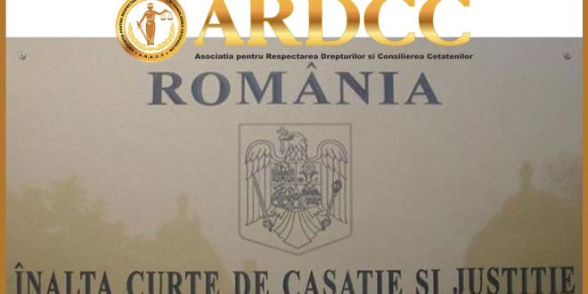 Cerere de interventie voluntara accesorie pentru reclamanti membrii ai ARDCC la ÎNALTA CURTE DE CASAŢIE ŞI JUSTIŢIE